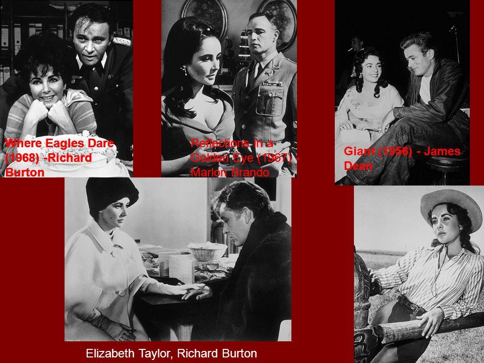The Sandpiper (1965) - Richard Burton Cat on a Hot Tin Roof (1958) - Elizabeth Taylor, Paul Newman Ivanhoe (1952) The Last Time I Saw Paris (1954) - E