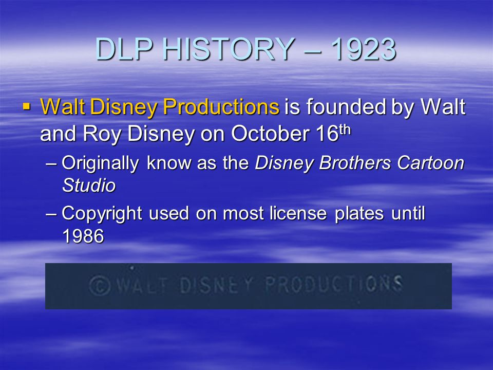 DLP HISTORY – 1991 WDWs Port Orleans Resort opens WDWs Port Orleans Resort opens –Merged with Dixie Landings Resort in 2001 –The combined resorts became the Port Orleans Resort
