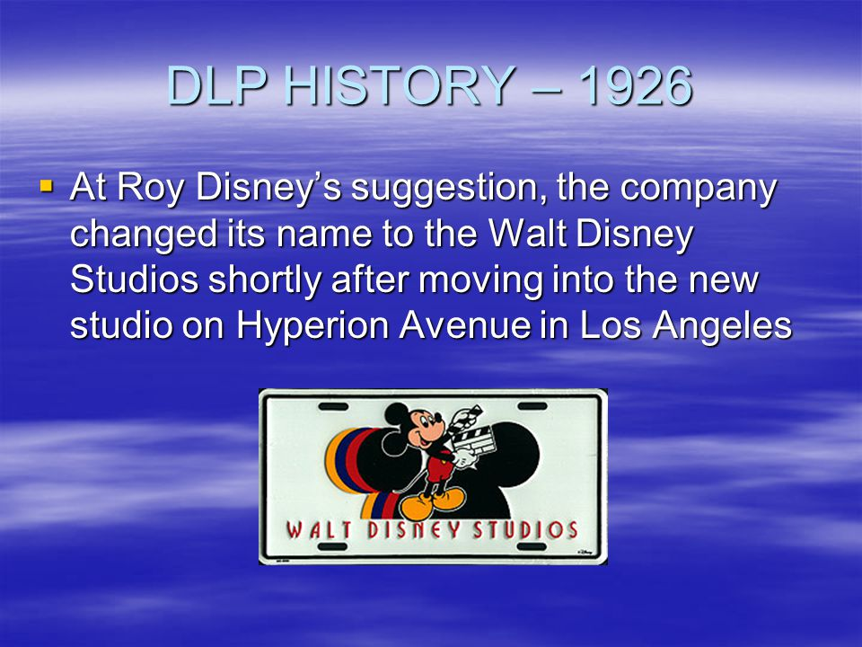 DLP HISTORY – 2005 Disney sells the Mighty Ducks Hockey franchise Disney sells the Mighty Ducks Hockey franchise –Closing the door on Anaheim Sports, Inc.
