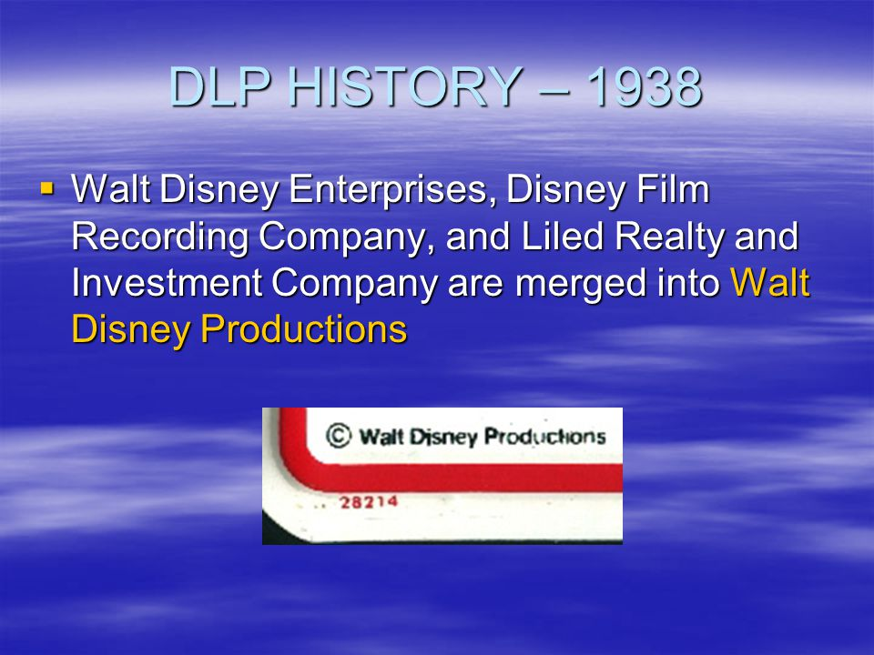 DLP HISTORY – 1970 A color change eliminated the problem A color change eliminated the problem WDW proves to be the starting point of producing license plates, as only one plate is required on vehicles in the State of Florida WDW proves to be the starting point of producing license plates, as only one plate is required on vehicles in the State of Florida