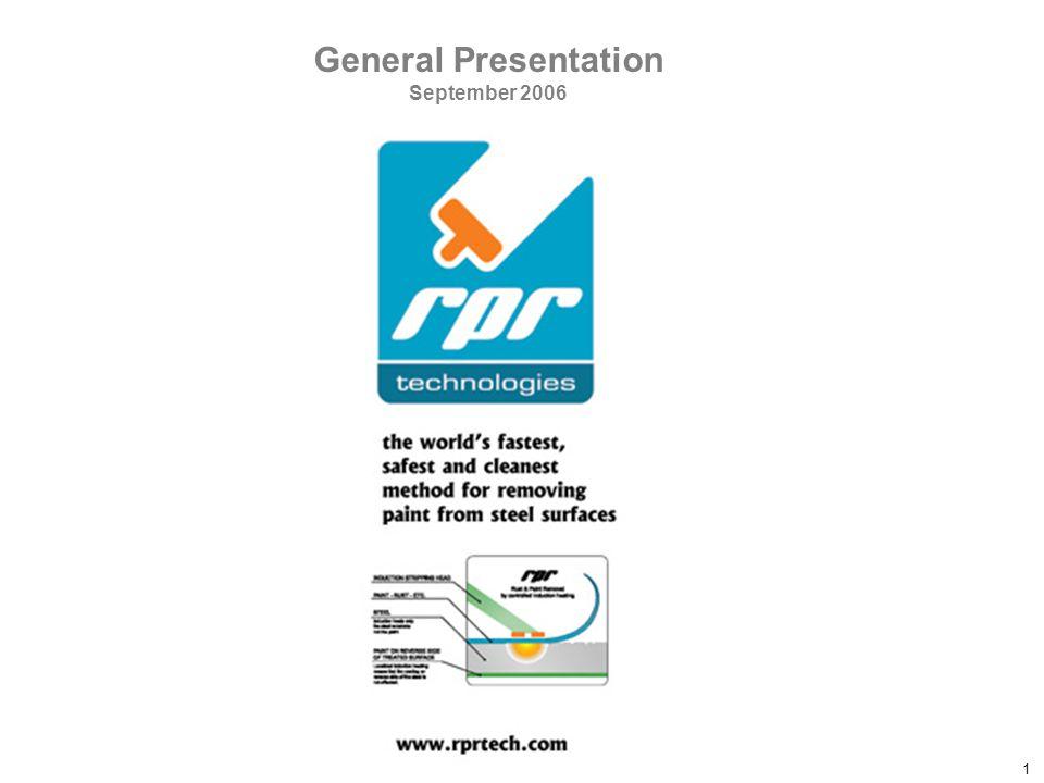 Confidential RPR Document 1 General Presentation September 2006