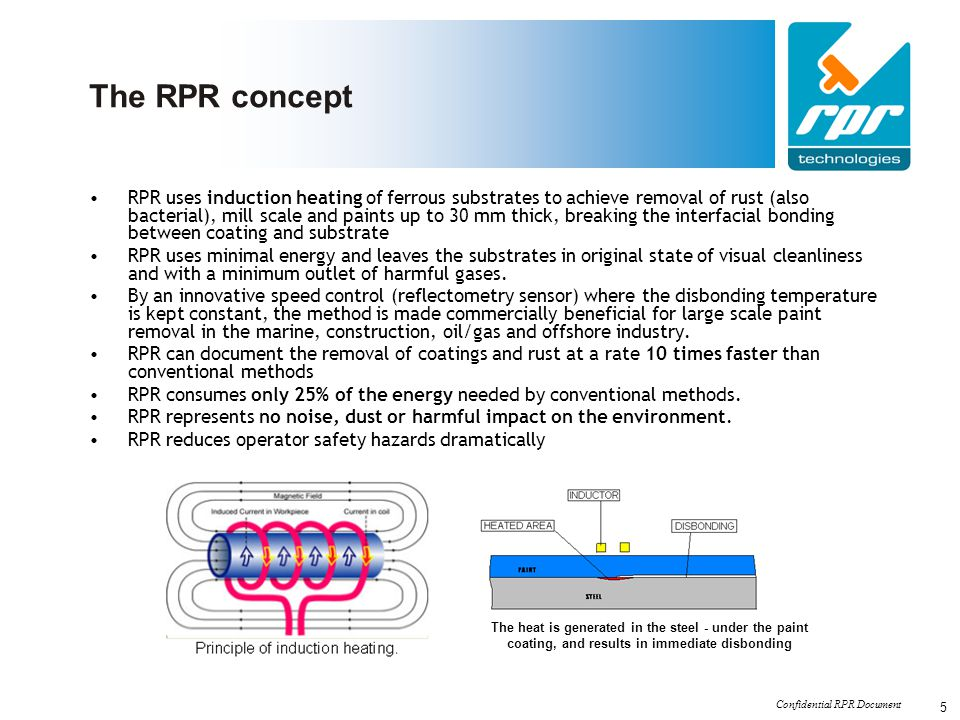 Confidential RPR Document 6 The RPR Concept