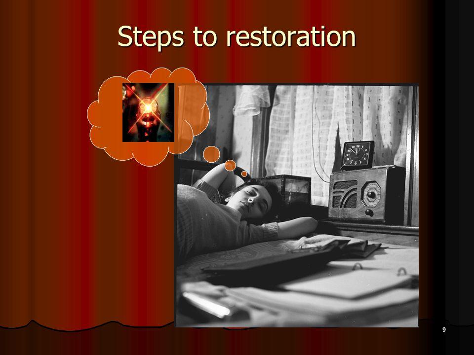 9 Steps to restoration