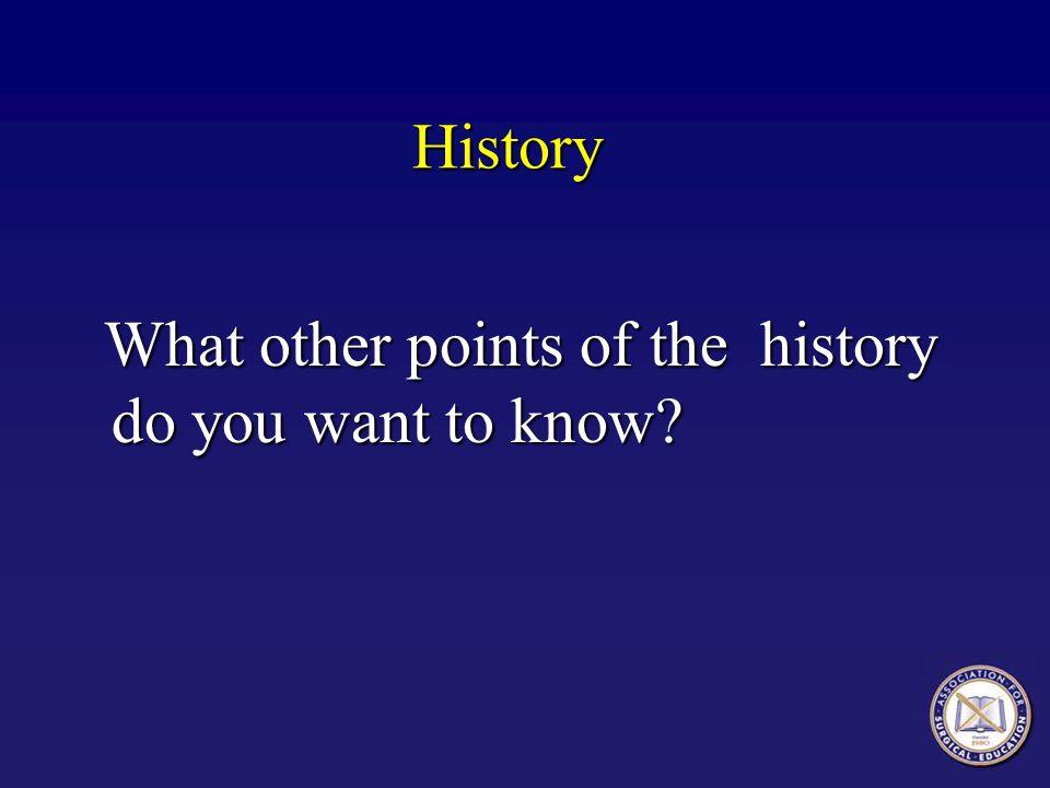 History, Mr.
