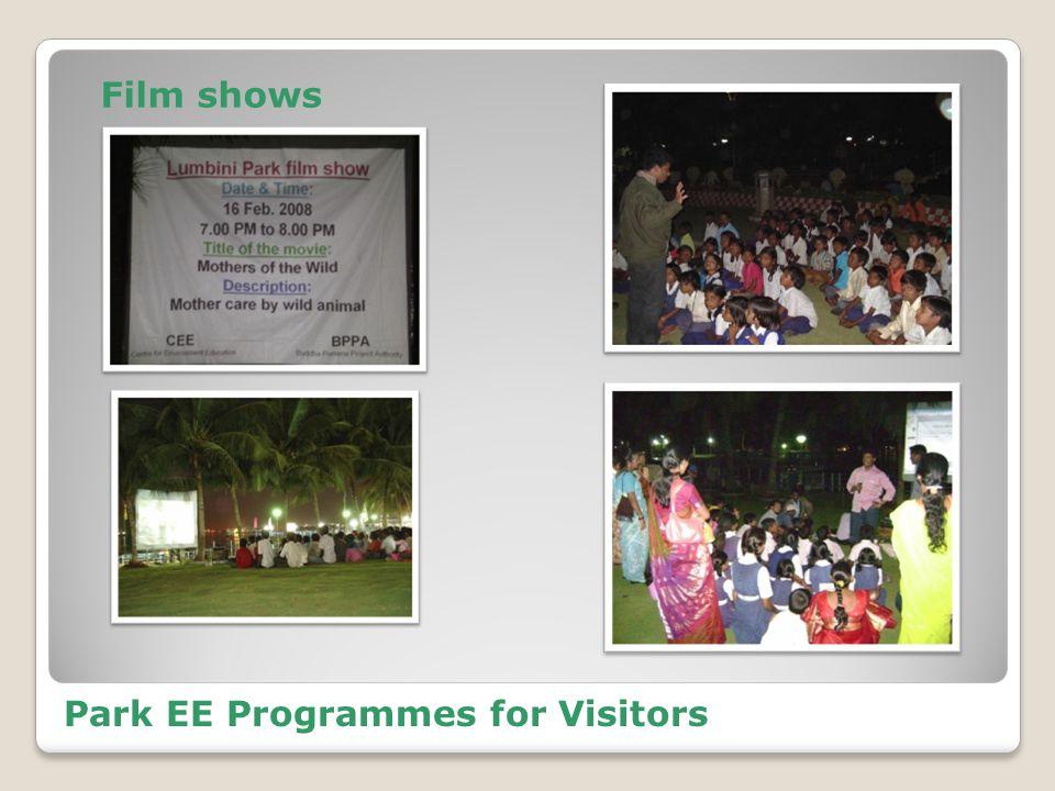 Park EE Programmes for Visitors Film shows