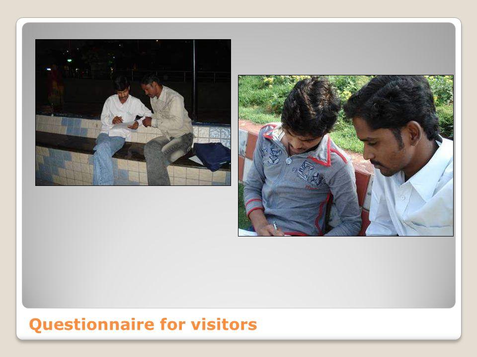 Questionnaire for visitors