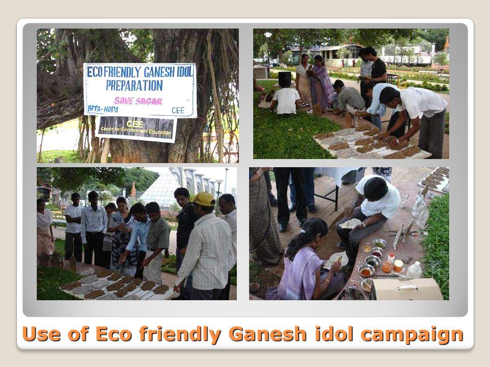 Use of Eco friendly Ganesh idol campaign