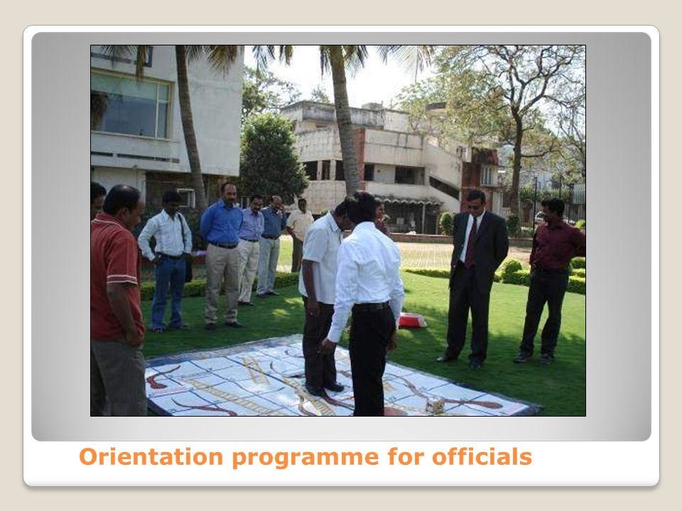 Orientation programme for officials