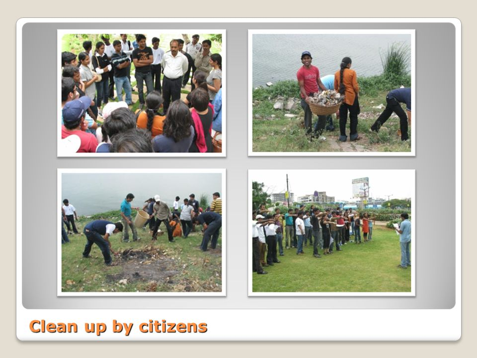 Clean up by citizens