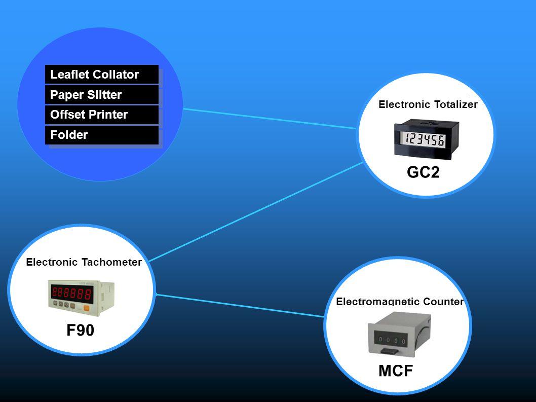 Electromagnetic Counter MCF Leaflet Collator Paper Slitter Offset Printer Folder Electronic Tachometer F90 Electronic Totalizer GC2
