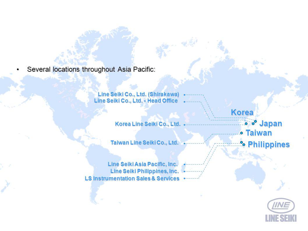 Line Seiki Co., Ltd. - Head Office Line Seiki Co., Ltd. (Shirakawa) Line Seiki Co., Ltd. (Shirakawa) Several locations throughout Asia Pacific: Severa