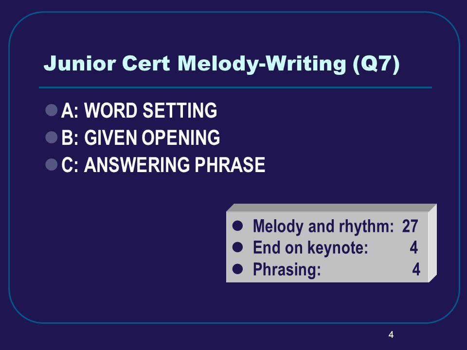 5 JC: Melody-Writing (Q7, Option B)