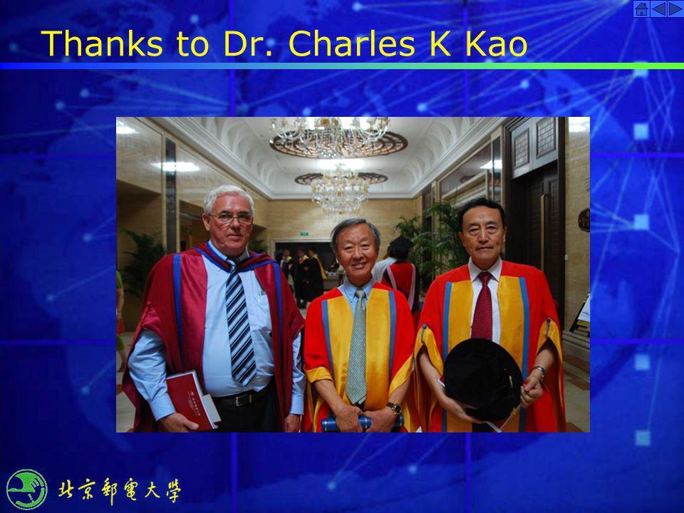 Thanks to Dr. Charles K Kao