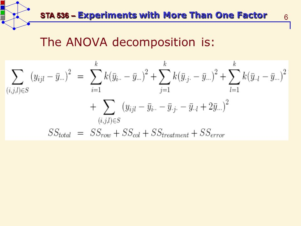 17 STA 536 – Experiments with More Than One Factor A balanced incomplete block design (BIBD) is used.