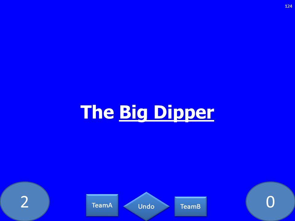 20 The Big Dipper 124 TeamA TeamB Undo