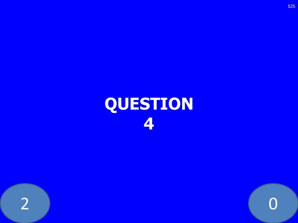 20 QUESTION 4 125