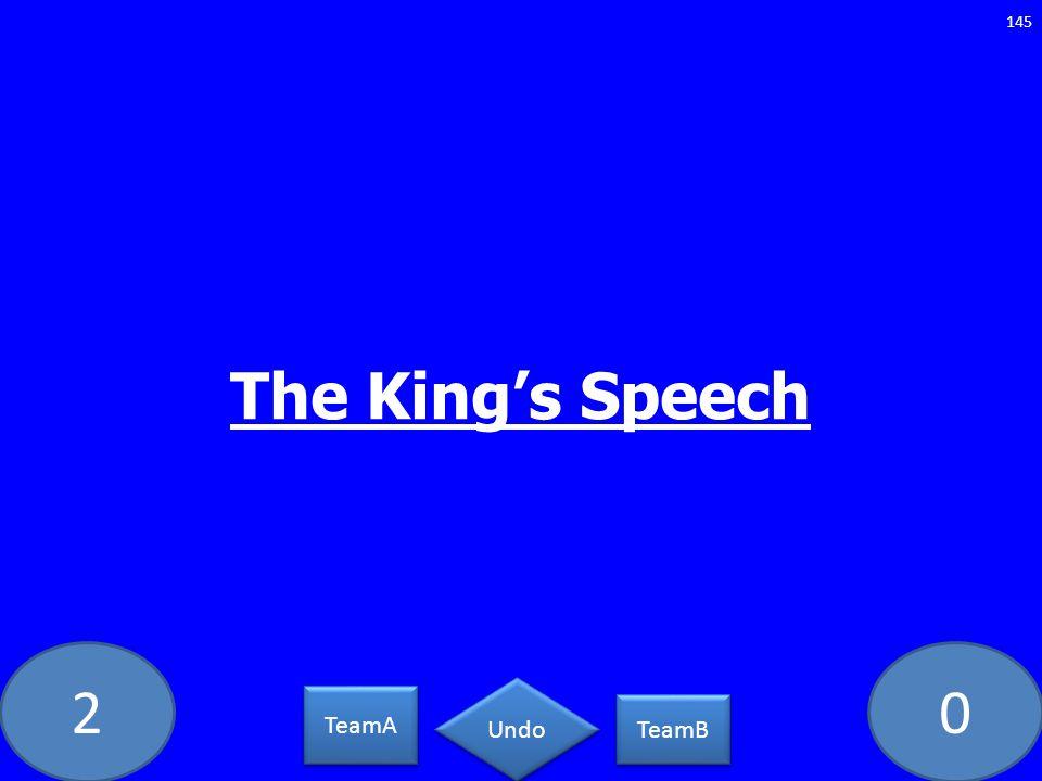 20 The Kings Speech 145 TeamA TeamB Undo