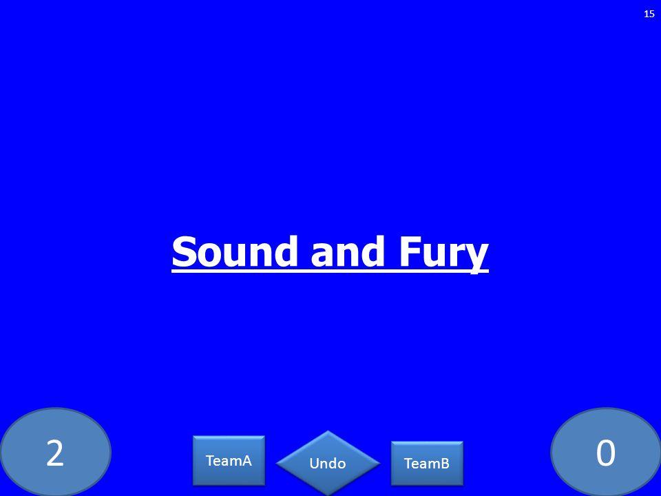 20 Sound and Fury 15 TeamA TeamB Undo