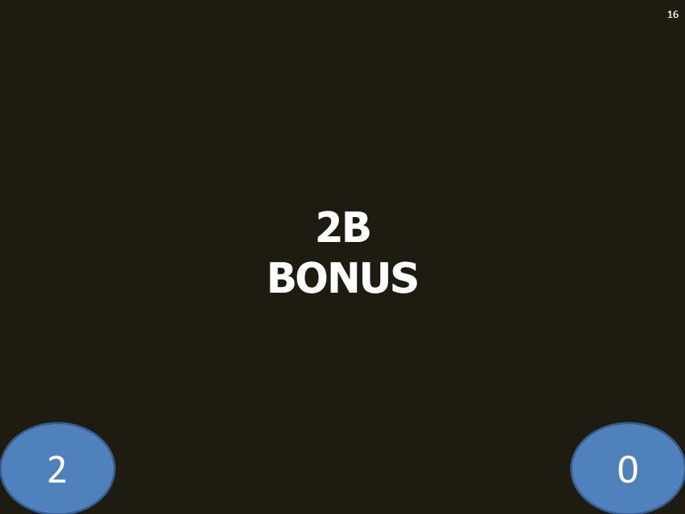 20 2B BONUS 16
