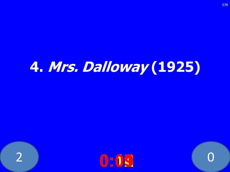 20 4. Mrs. Dalloway (1925) 0:020:030:040:050:060:070:080:100:110:120:090:01 170