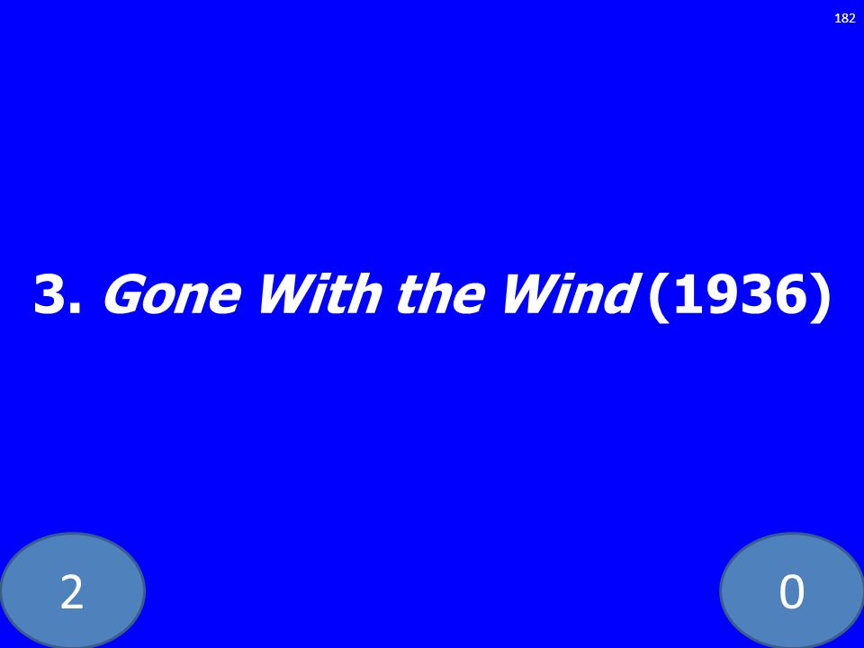 20 3. Gone With the Wind (1936) 182