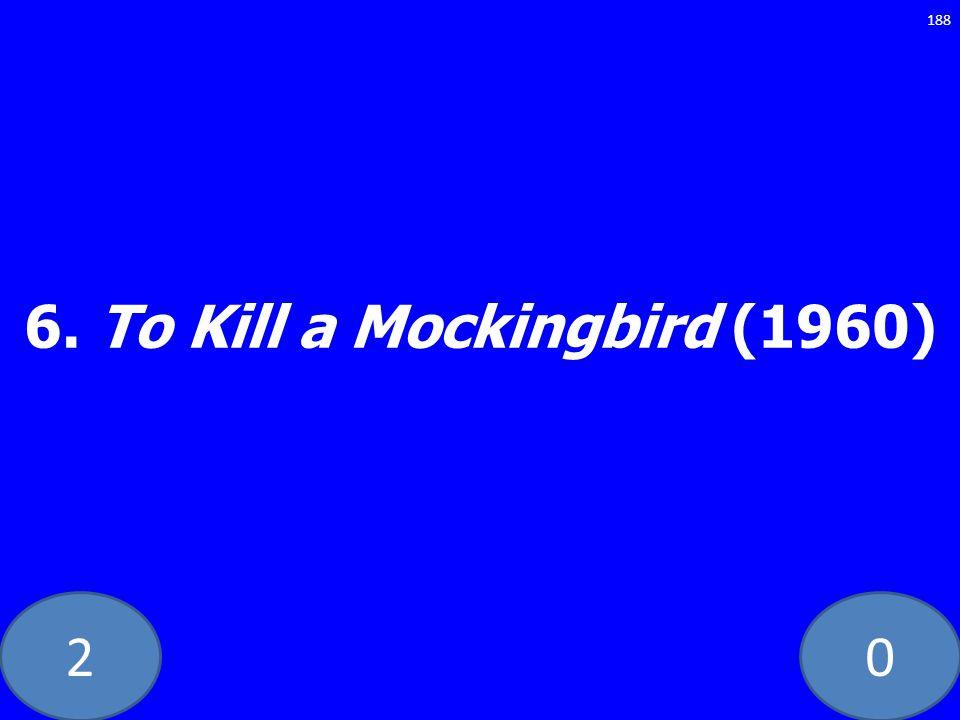 20 6. To Kill a Mockingbird (1960) 188
