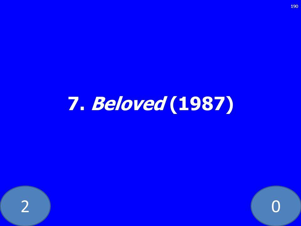 20 7. Beloved (1987) 190