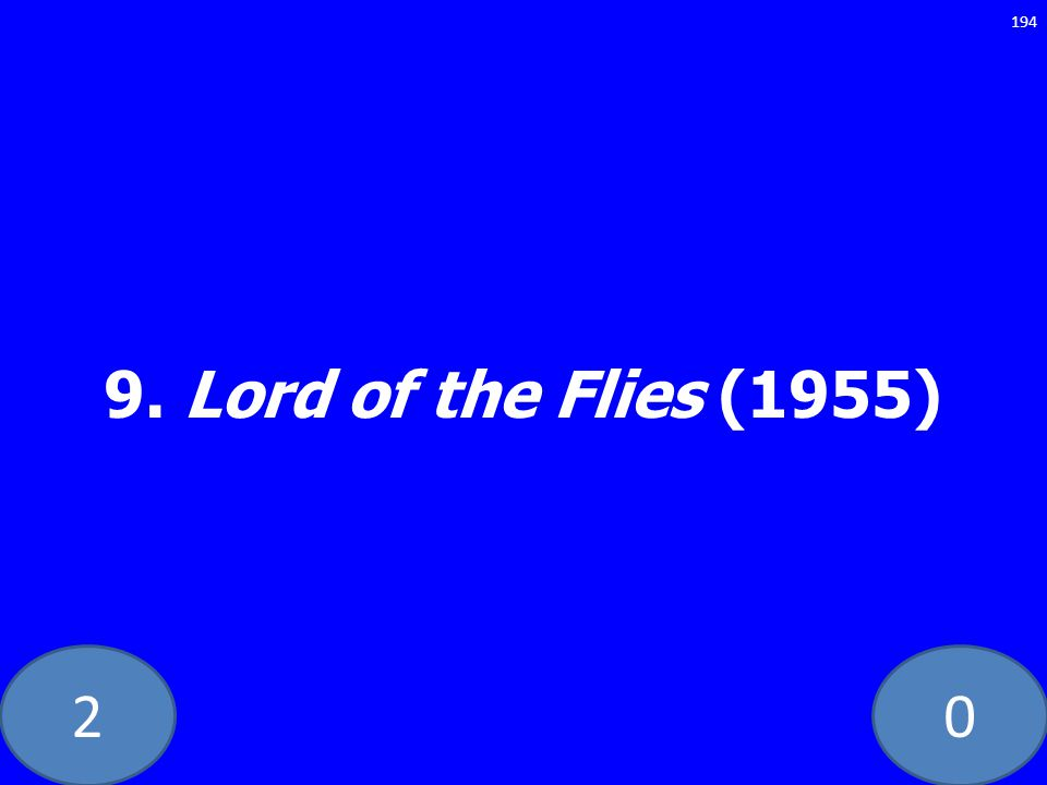 20 9. Lord of the Flies (1955) 194