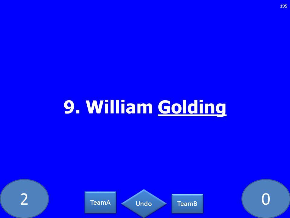 20 9. William Golding 195 TeamA TeamB Undo