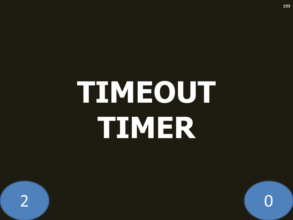 20 TIMEOUT TIMER 199