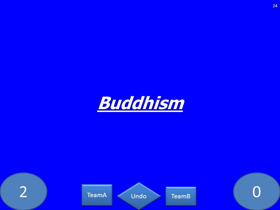 20 Buddhism 24 TeamA TeamB Undo