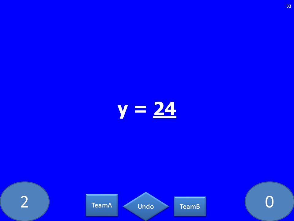 20 33 TeamA TeamB Undo y = 24