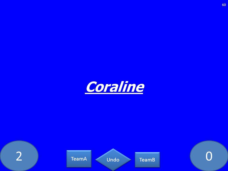 20 Coraline 60 TeamA TeamB Undo