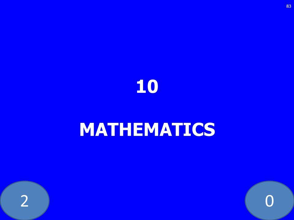 20 10 MATHEMATICS 83