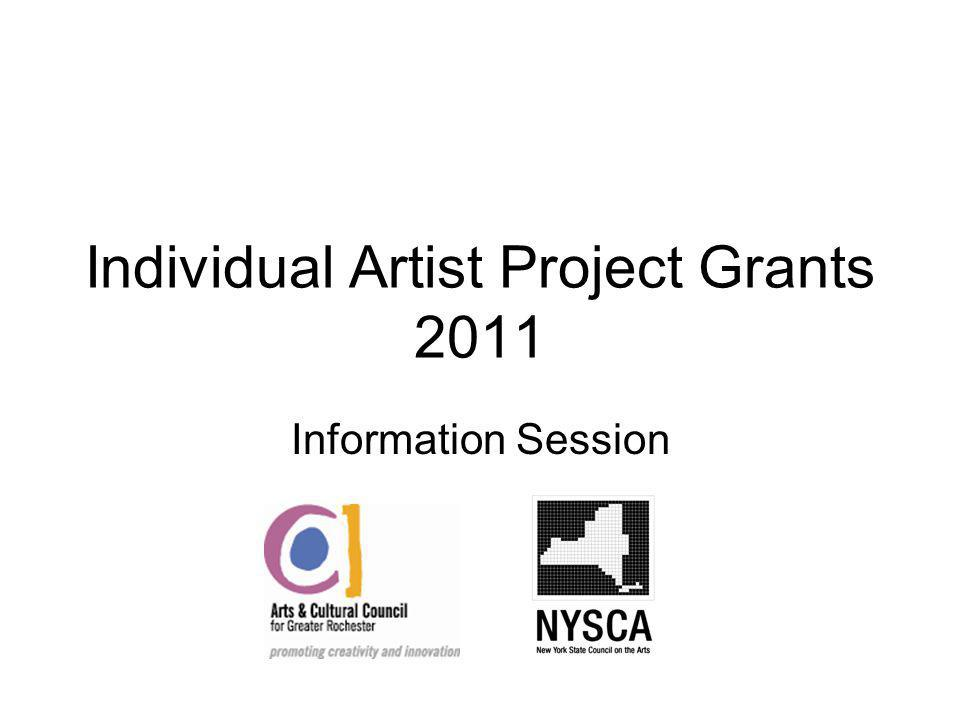 Individual Artist Project Grants 2011 Information Session