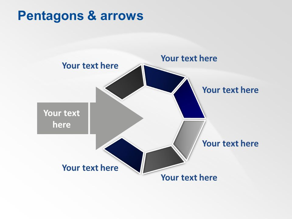 Your text here Pentagons & arrows