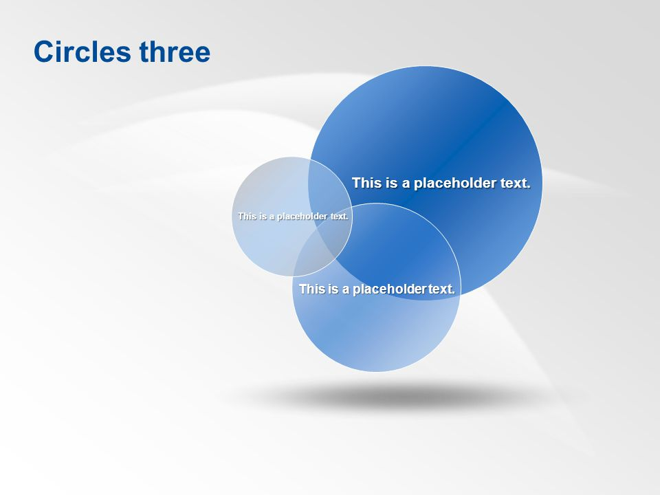 This is a placeholder text. Circles three