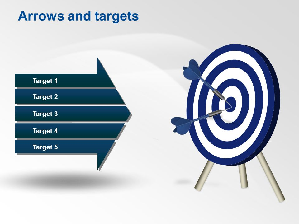 Arrows and targets Target 1 Target 2 Target 3 Target 4 Target 5