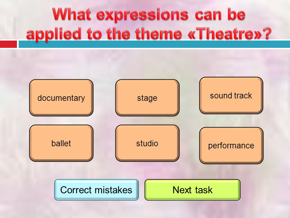performance ballet stage studio sound track documentary Correct mistakesNext task