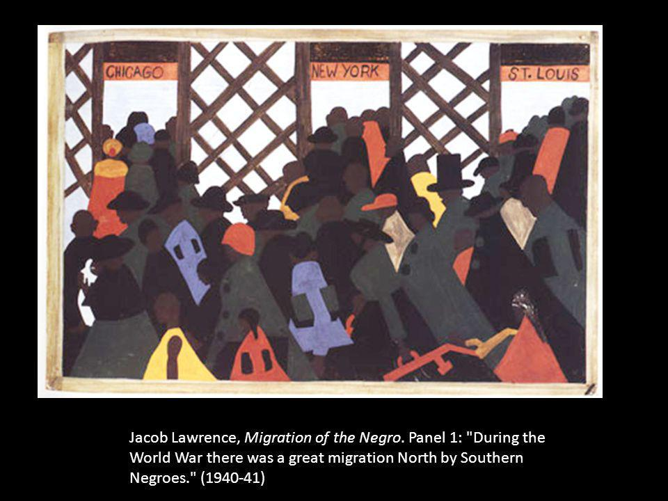 Jacob Lawrence, Migration of the Negro. Panel 1: