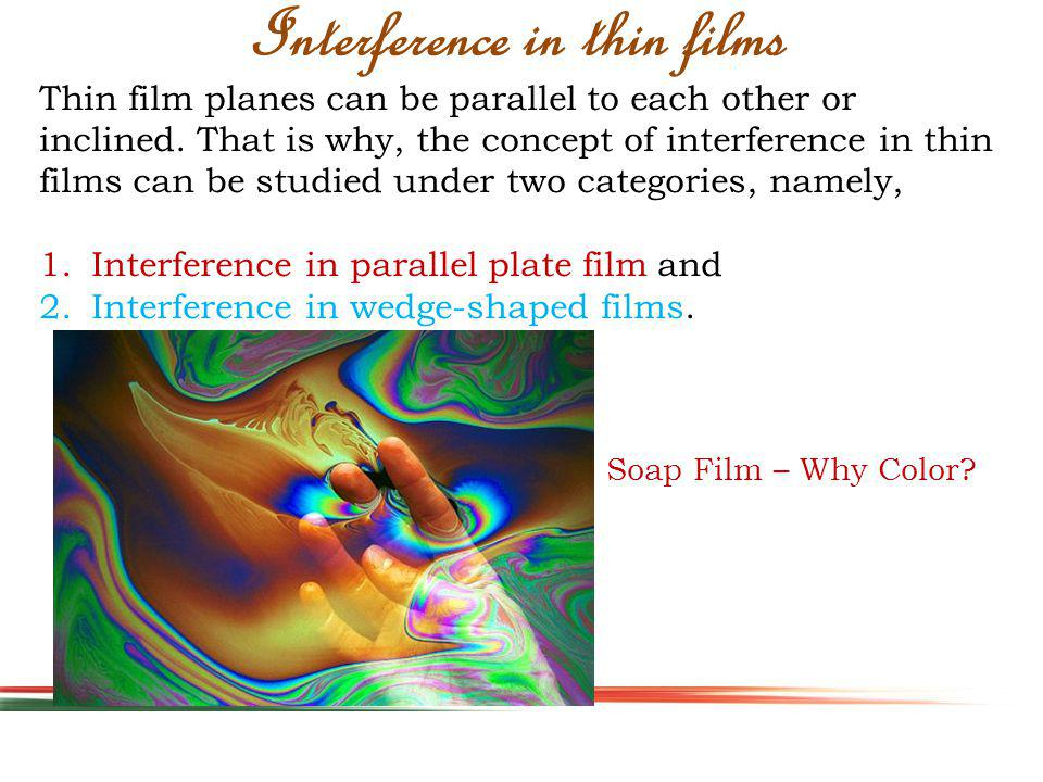 Thin film planes can be parallel to each other or inclined.