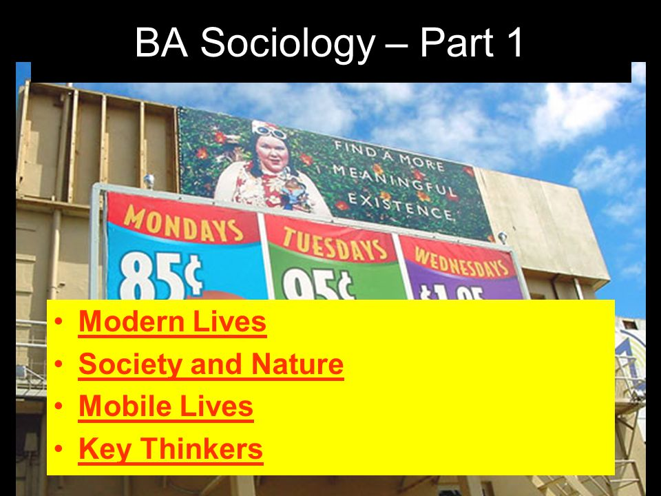 Modern Lives Society and Nature Mobile Lives Key Thinkers BA Sociology – Part 1