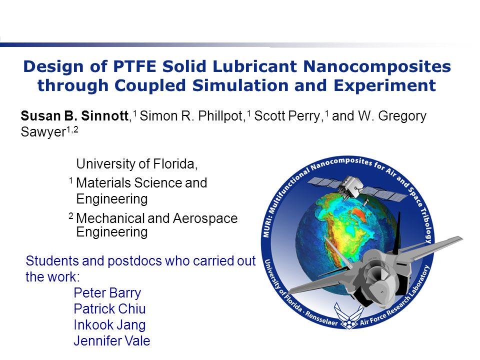 The goal is to understand how wear and friction in PTFE depends on orientation