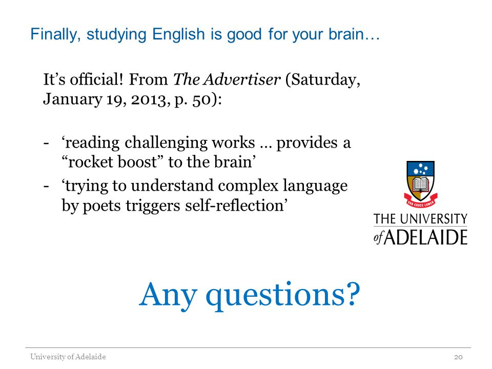 Finally, studying English is good for your brain… Its official.