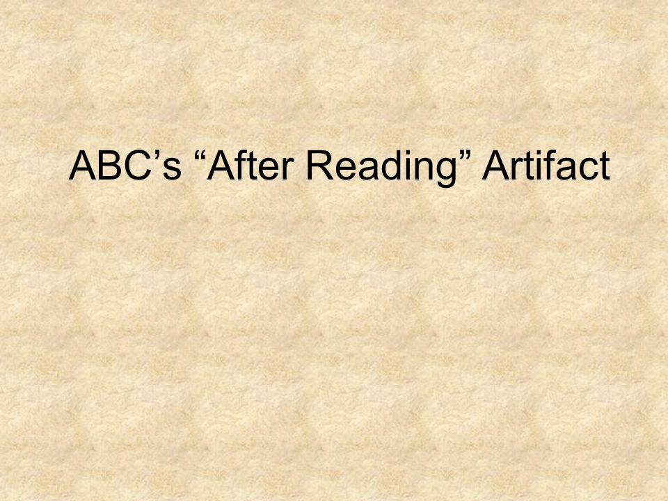 ABCs After Reading Artifact
