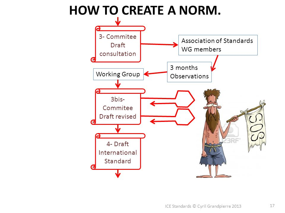 ICE Standards © Cyril Grandpierre 2013 17 HOW TO CREATE A NORM.