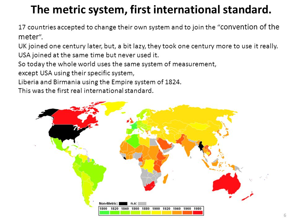 ICE Standards © Cyril Grandpierre 2013 6 The metric system, first international standard.