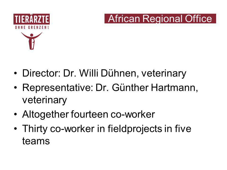 African Regional Office Director: Dr. Willi Dühnen, veterinary Representative: Dr.