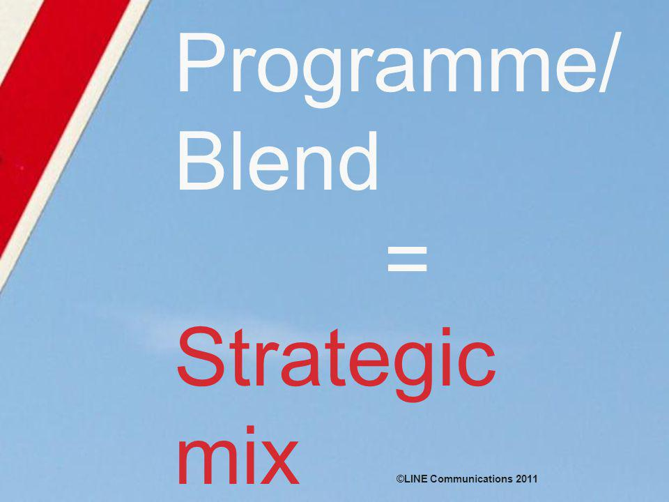 Programme/ Blend = Strategic mix ©LINE Communications 2011