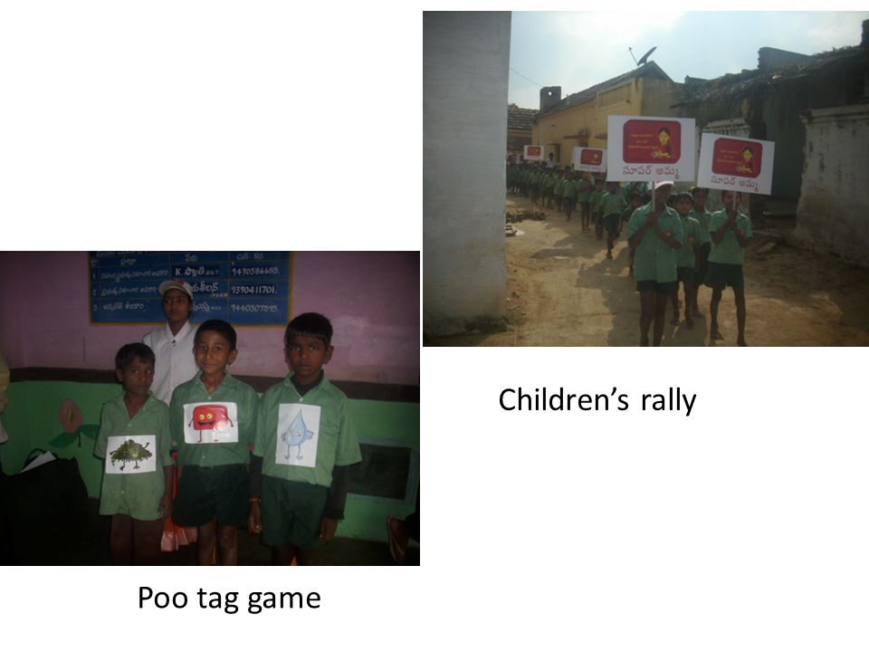 Poo tag game Childrens rally